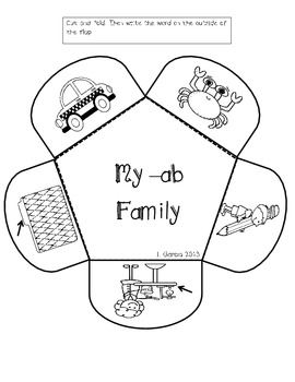 Word Families for Interactive Notebooks