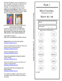 Book 1 Short /ă/ - ab Word Families for k-6 Grades and Intervention! First Free!