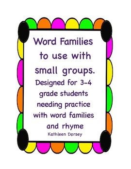 Word Families for Older Students