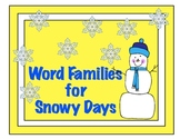 Word Families for Snowy Days