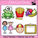 Word Families: fr Blends Clip Art - Personal or Commercial Use