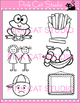 Word Families: fr Blends Clip Art: frog, french fry, fruit, friend, frown, frame