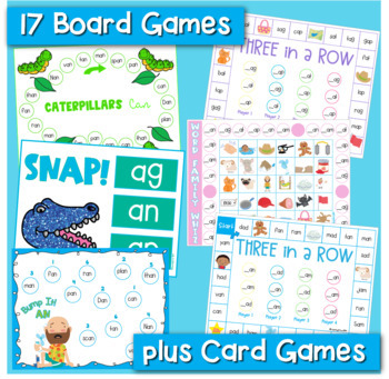 Word Families Word Work for Short A