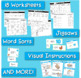 Word Families Word Work for Short E - charts, playdough mats, games, worksheets
