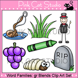 Word Families: gr Blends Clip Art - Personal or Commercial Use
