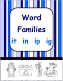 Short i Word Families - ig  it  in  ip