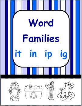 Short i Word Families - ig  it  in  ip