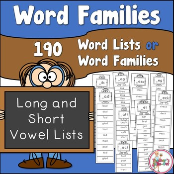 Word Families in List Form