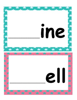 Word Families /-ine/ and /-ell/...Building Words Center and Word Work