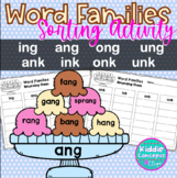 ng and nk Endings Sort Word Families ing, ang, ong, ung, ank, ink, onk, unk