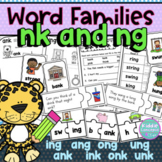 ng & nk Ending Worksheets Word Families ing, ang, ong, ung, ank, ink, onk, unk
