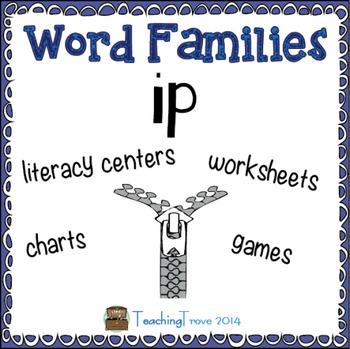 Word Families - ip (freebie)
