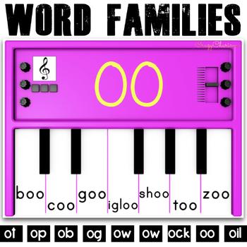 Phonics Activities: Pianos (short and long O)