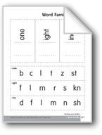 Word Families: -one, -ight, and -ine