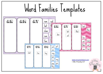Word Families - online template