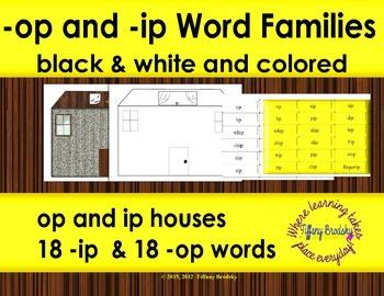 Word Families: op and ip word sort