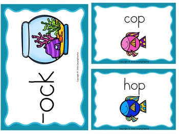 Word Families op, ot, and ock Fish Theme
