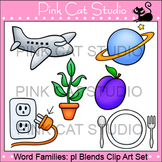 Word Families: pl Blends Clip Art - Personal or Commercial Use