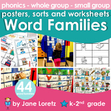Word Families (posters, sorts and worksheets)