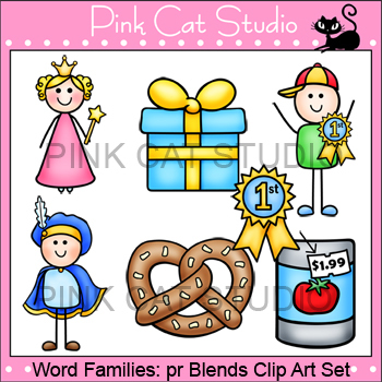 Word Families: pr Blends Clip Art - Personal or Commercial Use