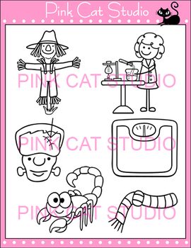Word Families: sc Blends Clip Art - Personal or Commercial Use