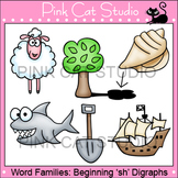 Word Families: sh- Digraphs Clip Art - Personal or Commercial Use