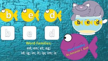 Word Families (short vowel e,i); First Grade; Special Needs; Autism