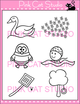 Word Families: sw Blends Clip Art - Personal or Commercial Use