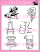 Word Families: th- Digraphs Clip Art - Personal or Commercial Use
