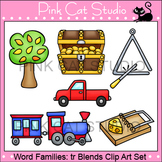 Word Families: tr Blends Clip Art - Personal or Commercial Use