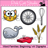 Word Families Clip Art: wh- Digraphs Clip Art - Personal or Commercial Use