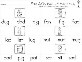 Word Families~a,e,i,o,u...Bubble Pop'n Fun
