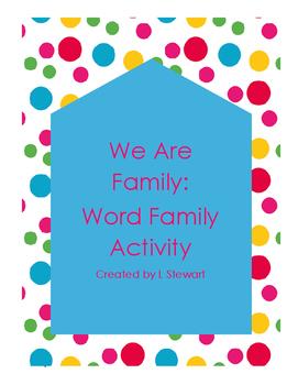 Word Familiy Centers- No Prep