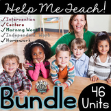 Word Family Growing Bundle: 46 Units when Complete