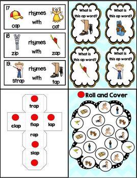 "Word Family Series: Ap Like in Map (""Ap"" Word Work Unit)"