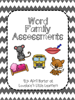 Word Family Assessments 3-2-1