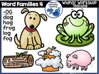 Word Family 5-Pack Short Vowels (50 images) Whimsy Workshop Teaching