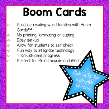 "Word Family ""A"" Boom Cards"