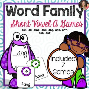 Word Family A Games (CVCC)