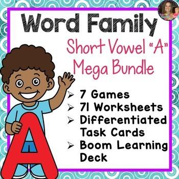 Word Family A Mega Bundle (CVCC)