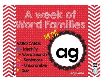 Word Family - ag