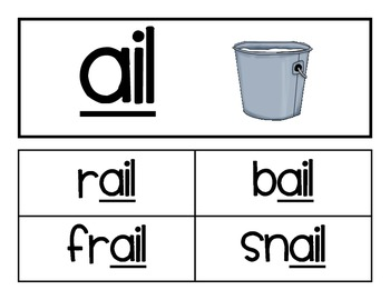 Word Family - ail family