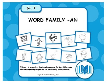 Word Family -AN Resources