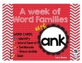 Word Family - ank family