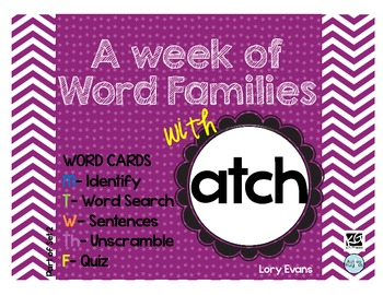 Word Family - atch family