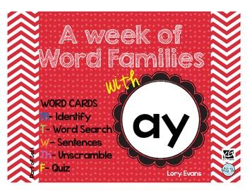 Word Family - ay
