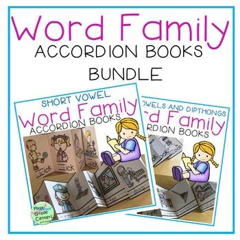 Word Families Accordion Books Bundle {Short Vowels, Long Vowels}