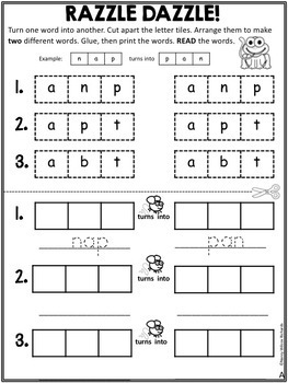 WORD FAMILIES: CVC Activities