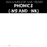 Welded Sounds -NG and -NK Activities For the Whole Year Bundle Orton-Gillingham