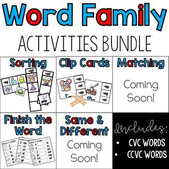 Word Family Activities Growing Bundle